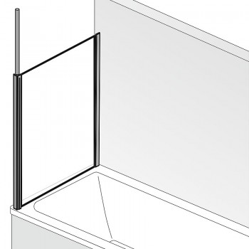HSK Premium Softcube Seitenwand Rechts Alu Silber-Matt mit Handtuchhalter Glasmattierung mittig ohne Beschichtung exkl. Aufmaßservice