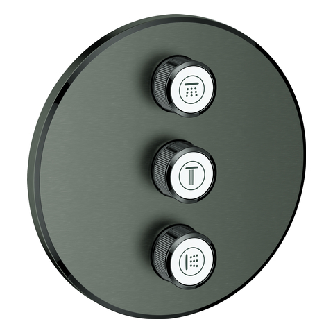 GROHE 3-fach UP-Ventil Grohtherm Smart Control 29122 FMS rd. hard graphite geb.