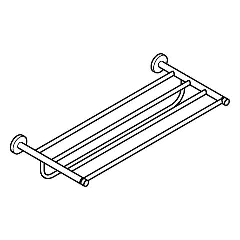 GROHE Multi-Badetuchhalter Essentials 40800_1 604mm nickel