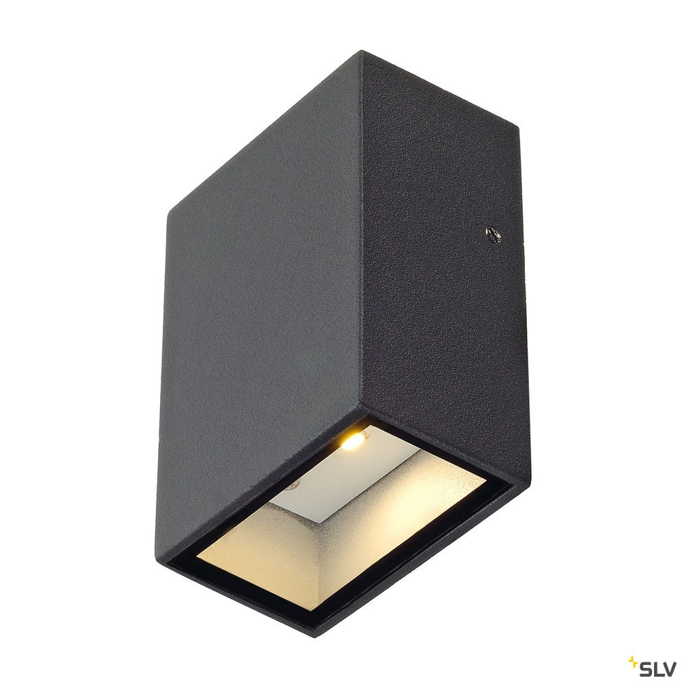 QUAD 1, Wandleuchte, LED, 3000K, IP44, eckig, anthrazit, 4,6W