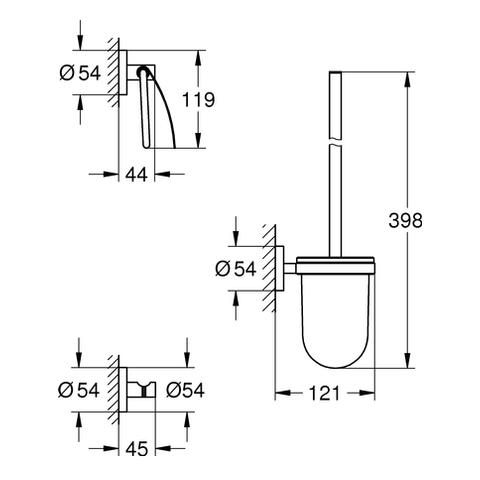 GROHE WC-Set 3-in-1 Essentials 40407_1 supersteel