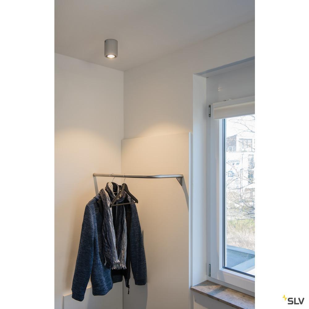 TRILEDO ROUND CL, Deckenleuchte, LED, 3000K, rund, aluminium gebürstet, 38°, 8,2W, inkl. Treiber weiß