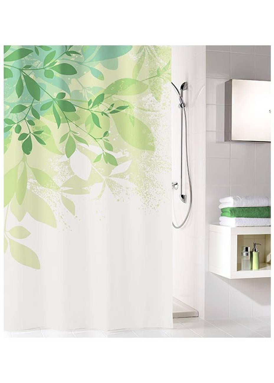 Duschvorhang Floresta 100 % Polyester Grün 180x180 cm