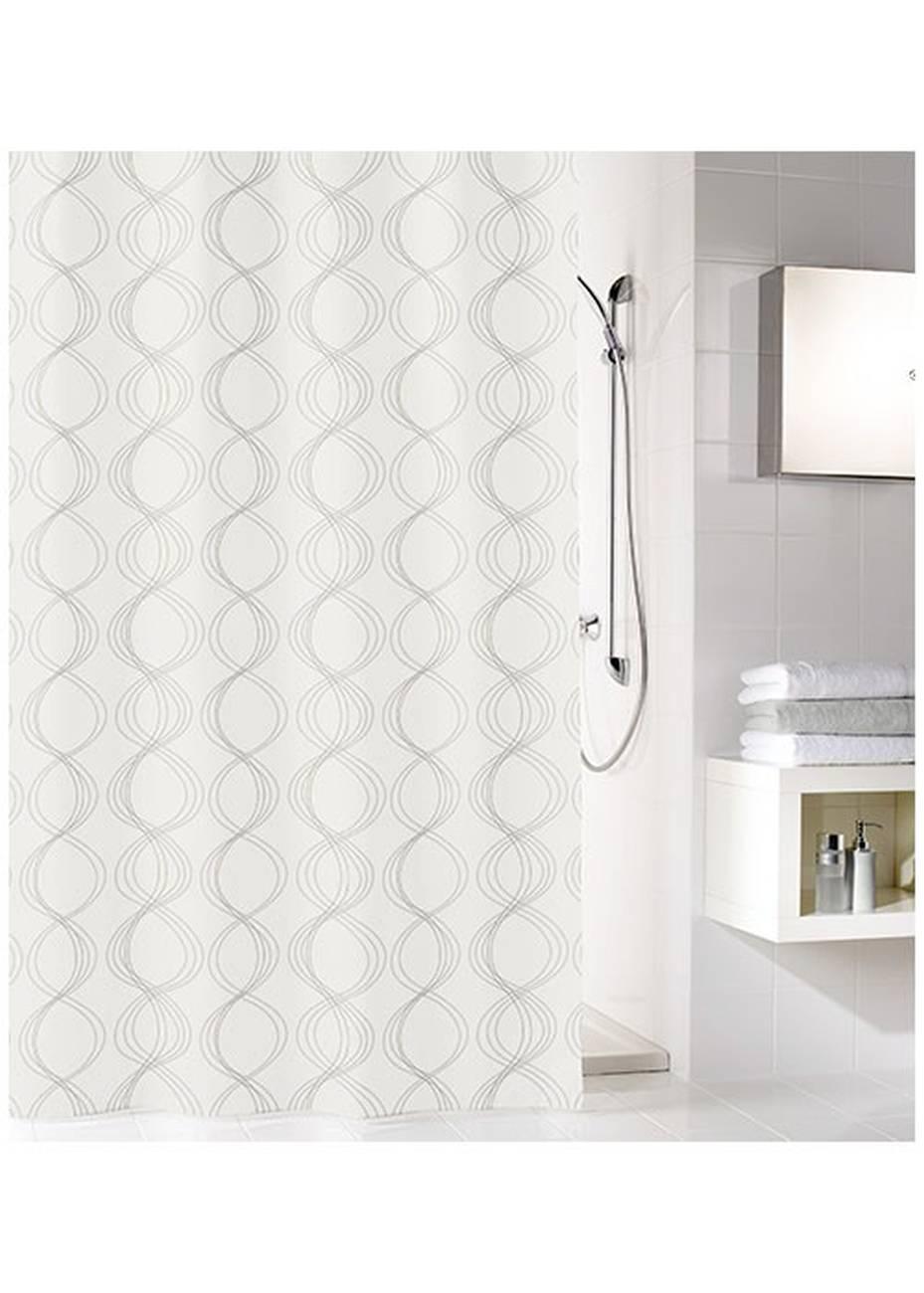 Duschvorhang Classy 100 % Polyester Weiss 180x200 cm