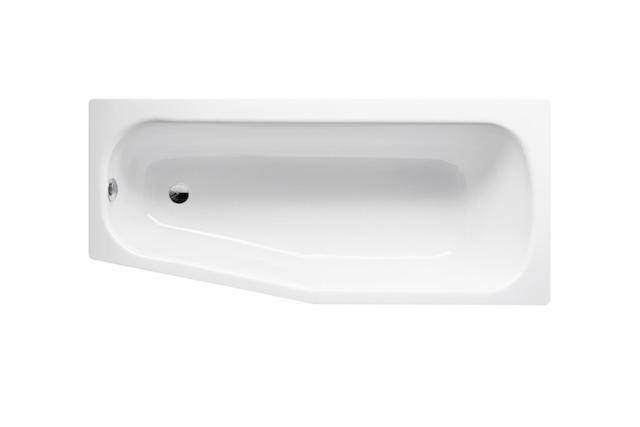 Bette Bambino - 1570×650/500 mm (schräges Fußende links) Weiß inkl. Antirutsch exkl. Wannenträger