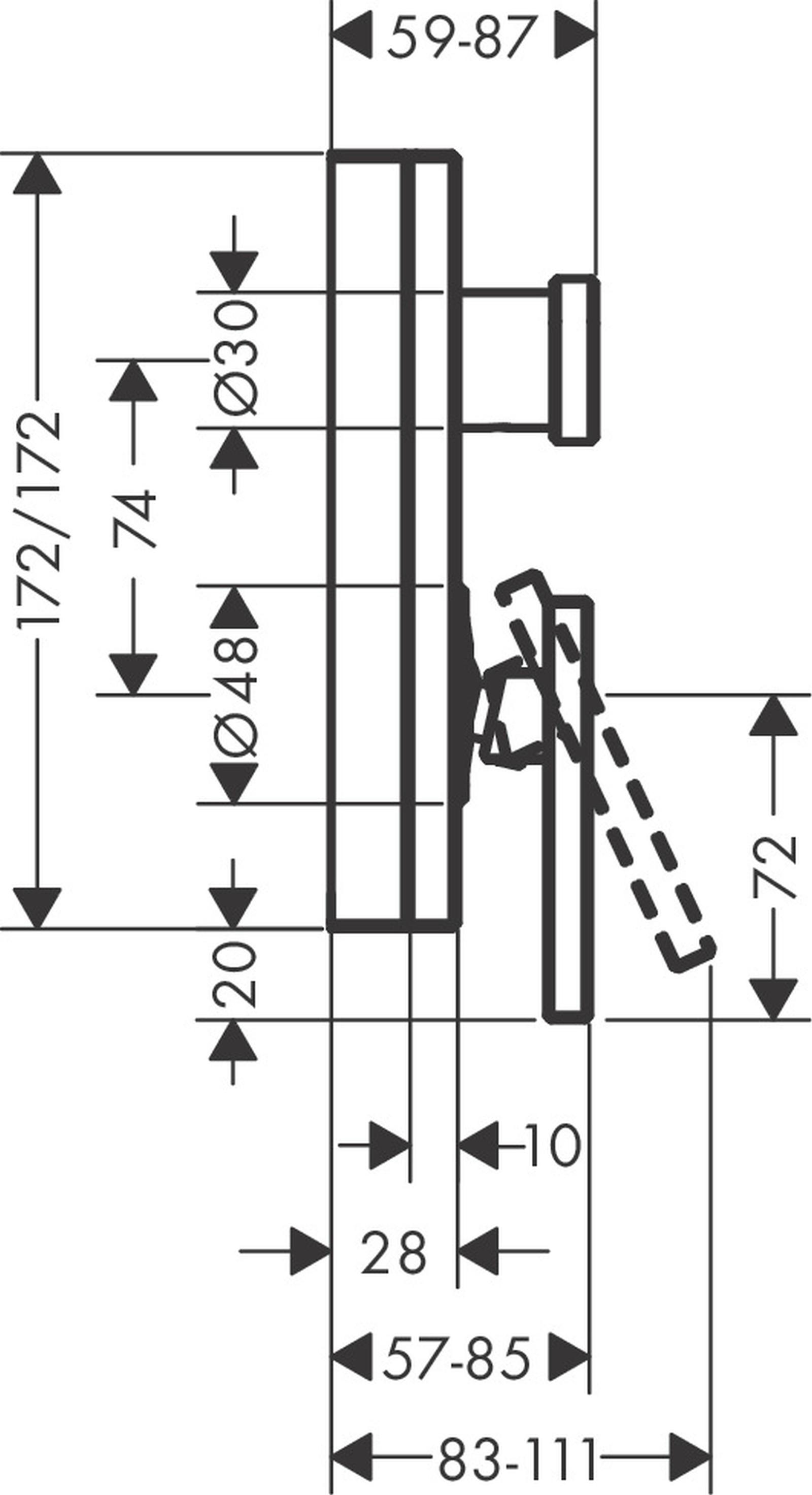 HG Wannenmischer Unterputz Axor Edge