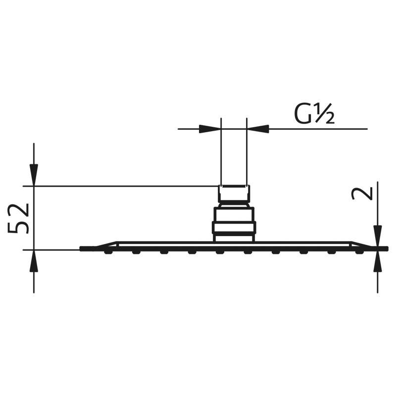 HSK Kopfbrause Eckig, super-flach - 400x400 mm