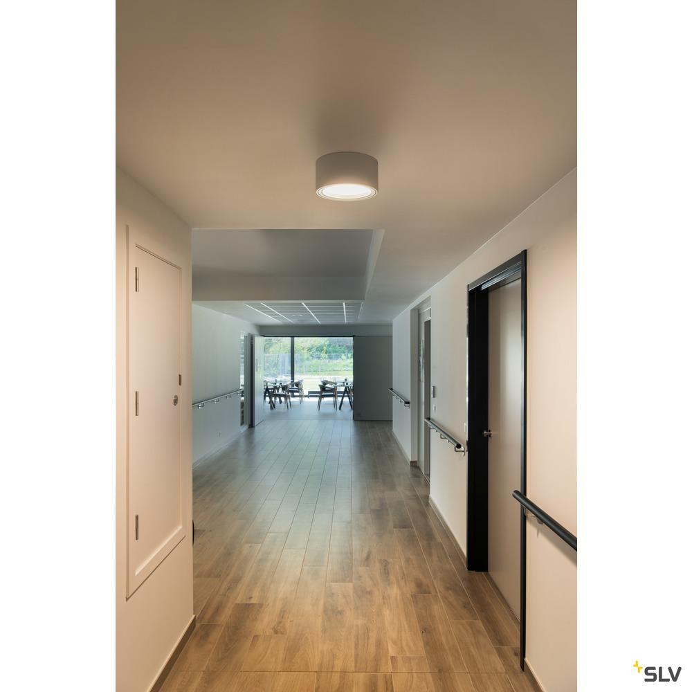 FERA 25, Deckenleuchte, LED, 3000K, rund, silbergrau, 1800lm, max. 21W, inkl. LED-Treiber weiß